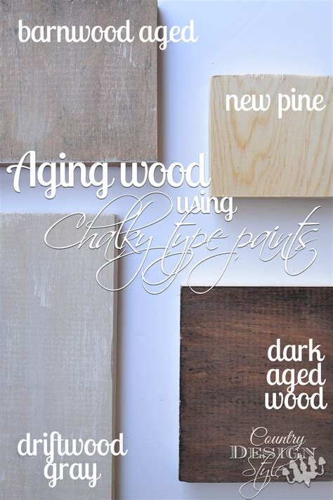 chalk paint uses aging wood using chalky paint country design style
