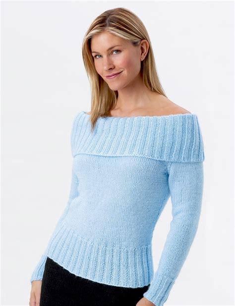shoulder jumper knitting pattern shoulder sweater patterns yarnspirations