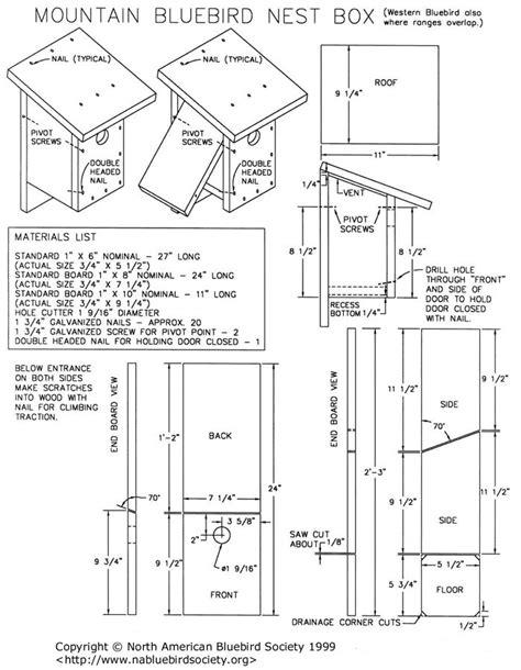 mountain bluebird house plans western bluebird house plans