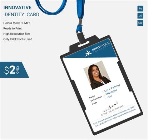 make company id cards simple innovative identity card template free premium