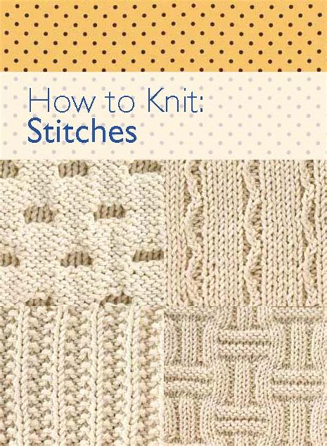 how to knit knitting stitches ebook how to knit stitches free