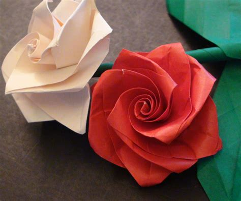 origami roses how to make a beautiful origami bouquet for