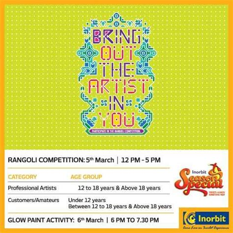 glow in the paint kolkata bring out the artist in you rangoli competition glow