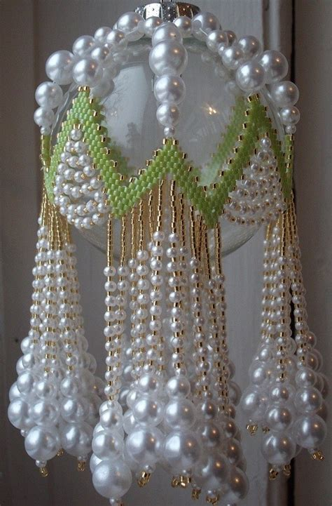 beaded ornament cover patterns free lime rickey beaded ornament cover e pattern
