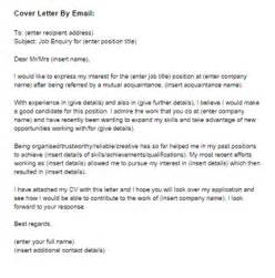 cover letter for a job by email sample just letter templates