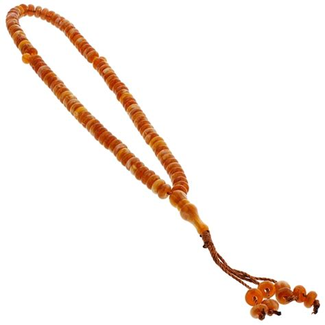 counting rosary 99 count white and orange islamic rosary prayer