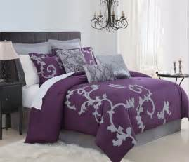 plum bedding sets 9 duchess plum and gray comforter set