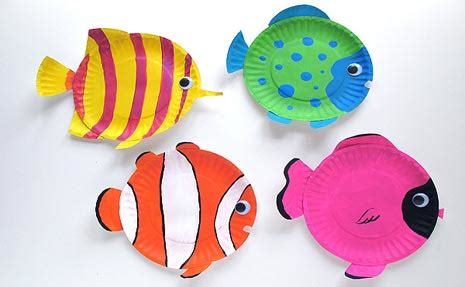 arts and crafts for summer summer craft tropical fish plate blogher