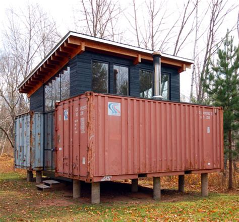 Two if by Sea: DIY Cargo Shipping Container Home on Stilts