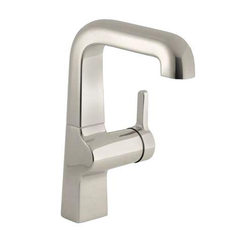 polished nickel kitchen faucets kohler evoke single handle kitchen faucet in polished nickel k 6335 sn the home depot