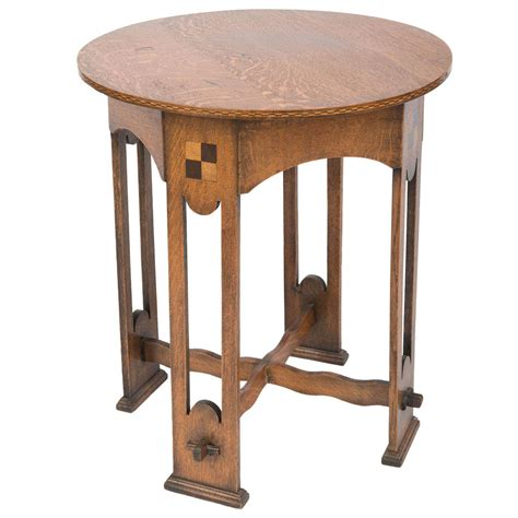 and crafts table a lovely arts and crafts oak occasional table at 1stdibs