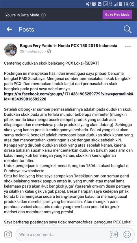 Pcx 2018 Keluhan by Heboh Tentang Shock Belakang Pcx 150 Lokal Yang Bengkok