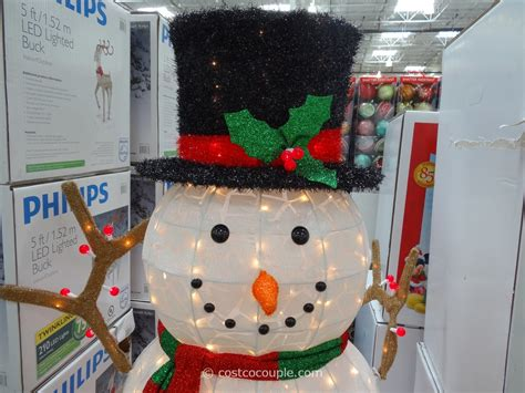 outdoor light up snowman 60 inch lighted snowman