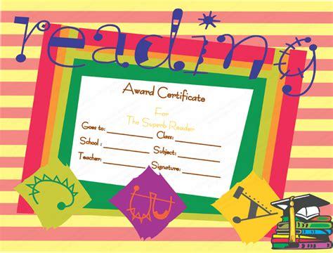 best reader best reader award certificate template