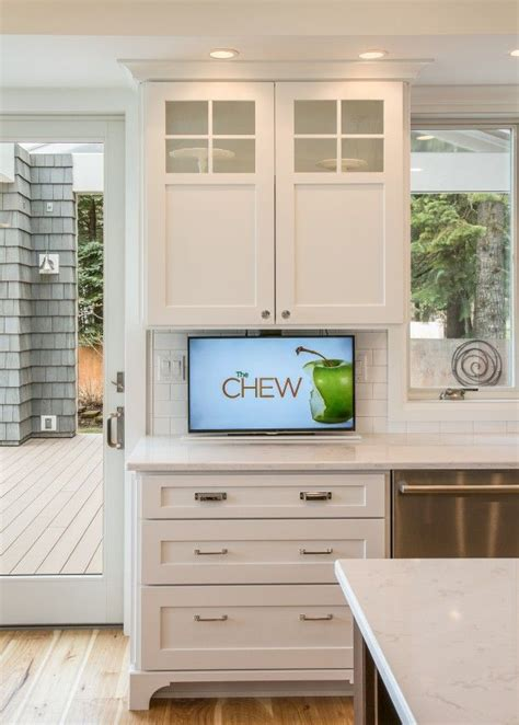 tv in kitchen ideas 25 best ideas about tv in kitchen on a tv built in integrated appliances and tv