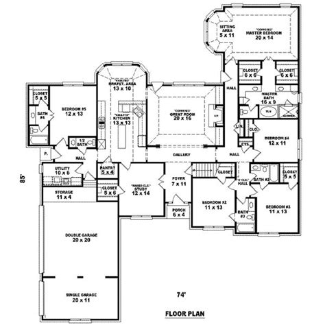 5 bedroom storey house plans 3105 square 5 bedrooms 4 batrooms 3 parking space