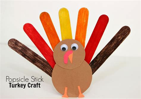 craft stick projects for popsicle stick turkey craft for