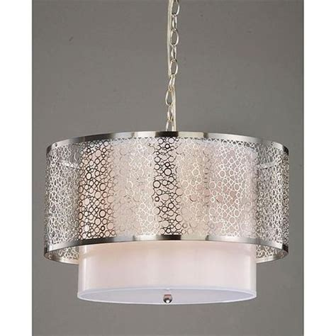 modern pendant chandeliers modern white nickel drum shade ceiling chandelier pendant