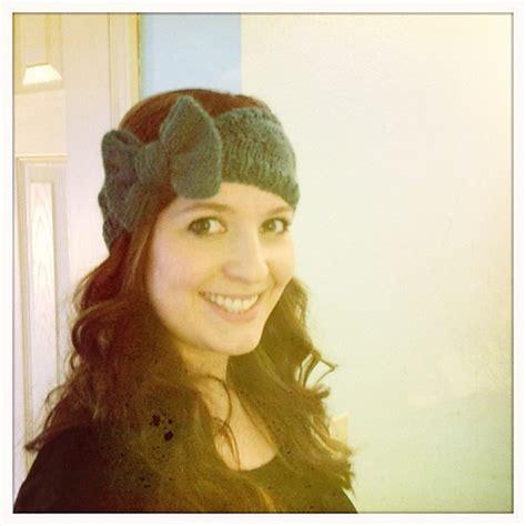 knitted headband with bow knitting patterns galore bow headband