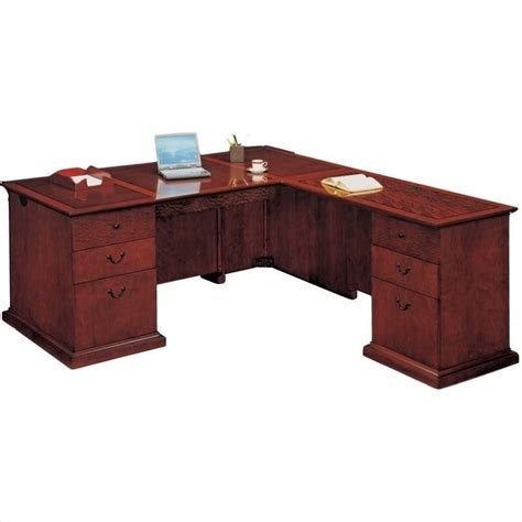 dmi mar executive l shaped desk 7302 4x