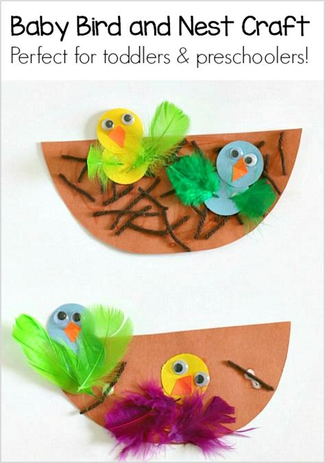 craft projects for babies crafts for nest and baby bird craft buggy