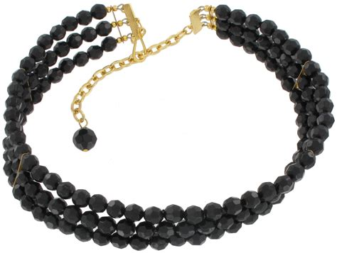 black beaded necklace 3 strands black necklace 3195 10 f beaded ajraefields
