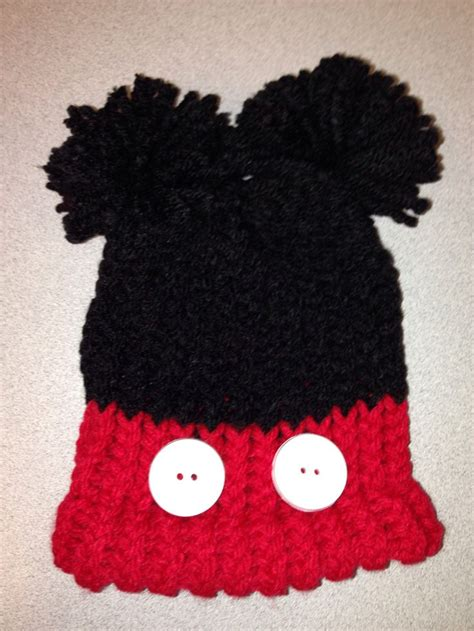 mickey mouse knit hat mickey mouse knit baby hat using a loom crafts