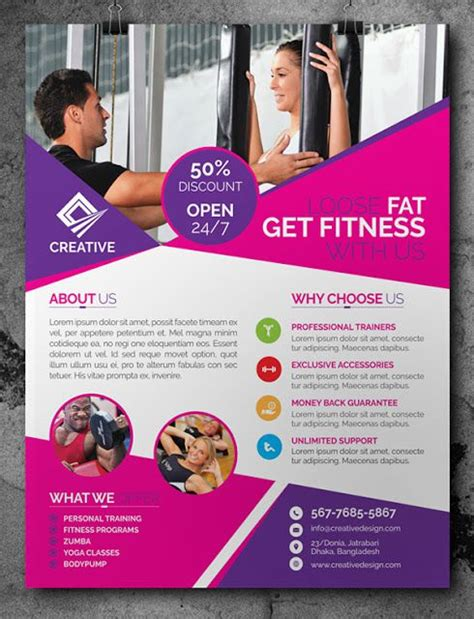 free printable flyers 32 superior fitness flyer templates demplates