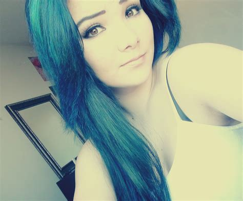 blue hair blue hair autumn dezarae