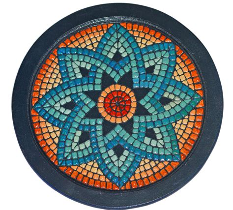 mosaic craft crafts mosaics mandalas on mosaic tables
