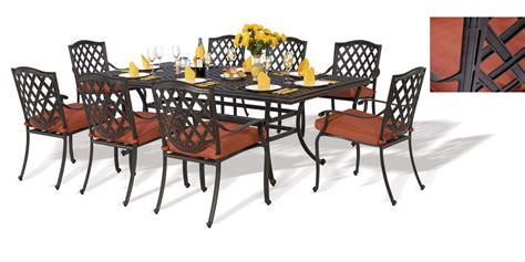 ensemble florence 1 table rectangulaire 8 fauteuils imitation fer forg 233 oogarden