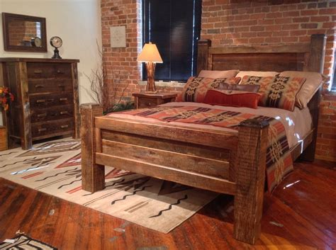 lodge style bedroom furniture timber bed