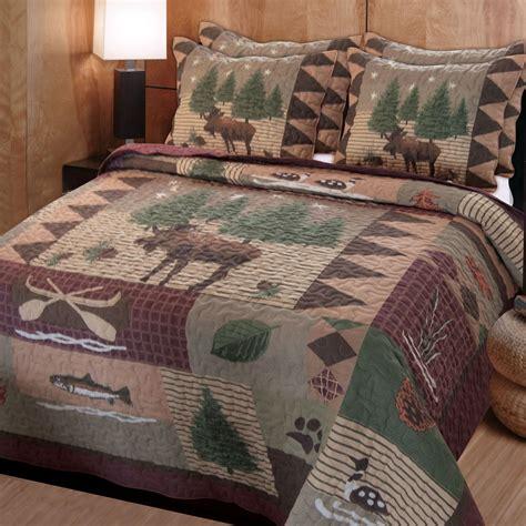 king quilt bedding sets moose lodge rustic quilt bedding set
