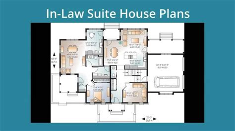 floor plans with in suite apartment plan antique in suite house plans detached