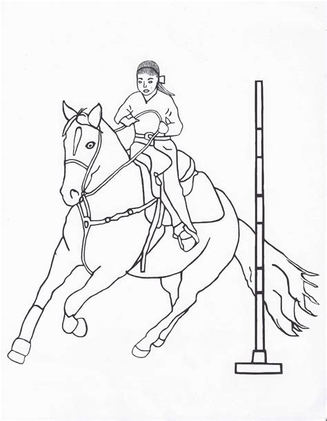 rodeo coloring pages pole bending color page by dancing