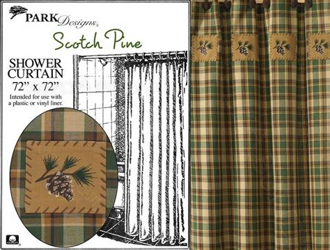 scotch pine shower curtain by park designs 72x72 woodsy