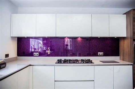 Kitchen Design Hertfordshire quot purple haze quot luxury kitchen glass splashbacks by