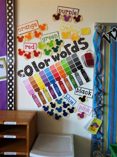 colour in decorations color words wall decoration idea myclassroomideas