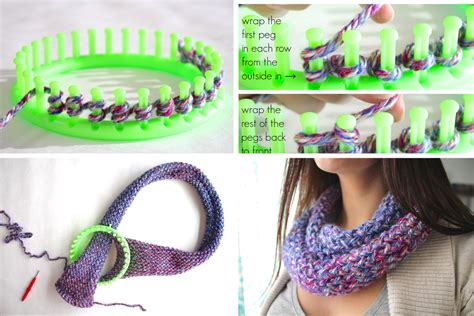 how to loom knit a scarf on loom how to knit an infinity scarf on a loom diy projects