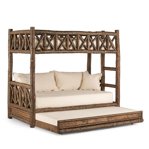 bunk style beds rustic bunk bed with trundle la lune collection