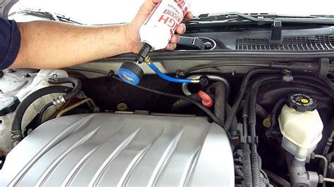 how to add refrigerant to a 2001 2004 dodge caravan 2003 dodge caravan se 3 3l v6 flexfuel ac recharging olds intrigue 2001 youtube