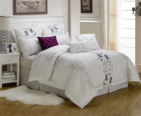 embroidered bedding sets 9 cal king carolyn embroidered comforter set