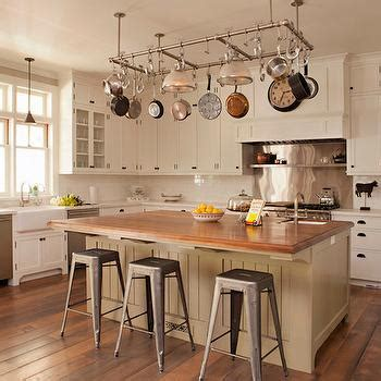 kitchen island with pot rack interior design inspiration photos by tim barber