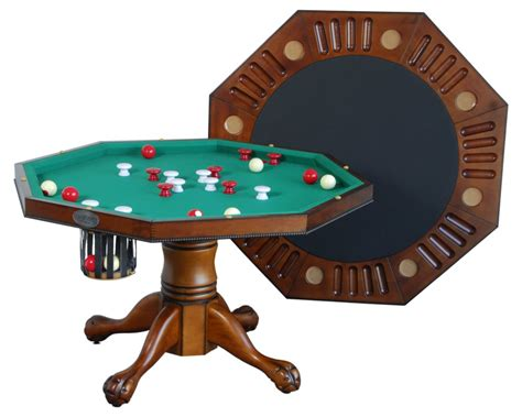 octagon bumper pool table berner billiards 3 in 1 table octagon 48 w bumper pool