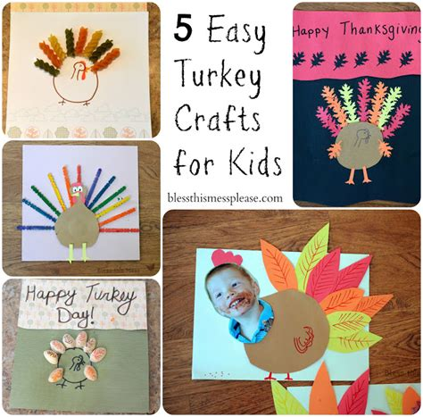 easy thanksgiving crafts for 5 easy turkey crafts for bless this mess