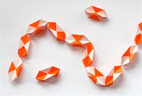 Make A Geometric Origami Garland How About Orange