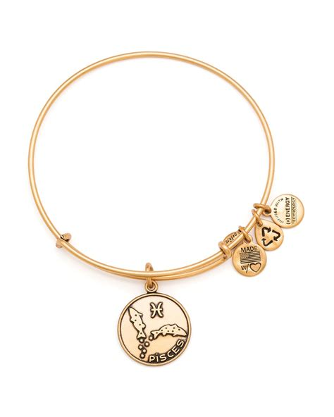 alex and ani alex and ani pisces bangle in metallic lyst