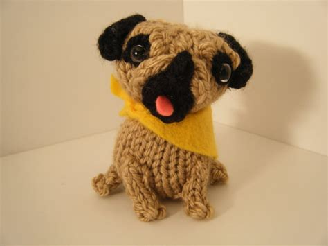 knitted pug knit amigurumi pug by karenshines on etsy