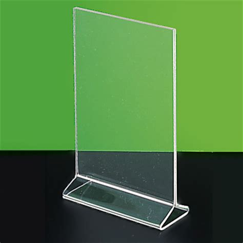 with acrylic acrylic sign holder display stand label holder picture