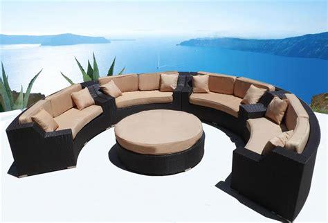 circular outdoor furniture modern wicker sectional sofa outdoor patio